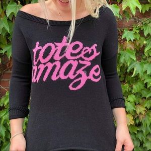 American Eagle Outfitters Sweaters - American Eagle Totes Amaze Sweater black pink knit